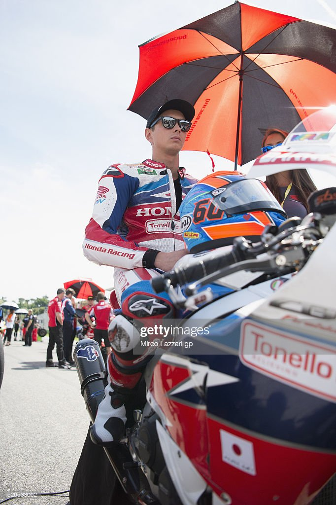 Michael Van Der Mark of Netherlands and Honda World Superbike team prepares to start on the grid during the Superbike Race 1 during the World Superbikes - Qualifying at Enzo & Dino Ferrari Circuit on April 30, 2016 in Imola, Italy.
