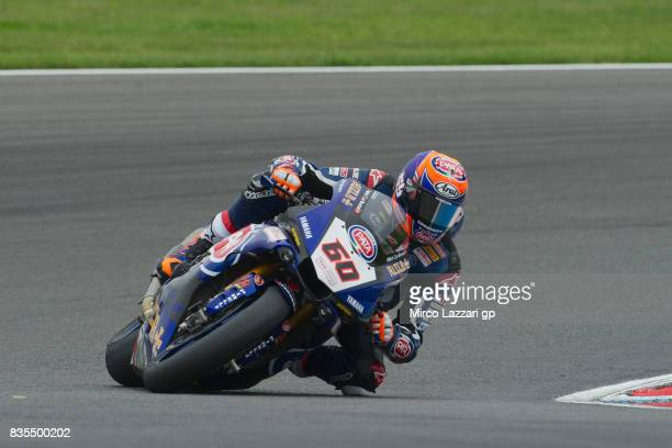 Michael Van Der Mark of Netherlands and PATA Yamaha Official WorldSBK Team rounds the bend during the FIM Superbike World Championship Race 1 at...