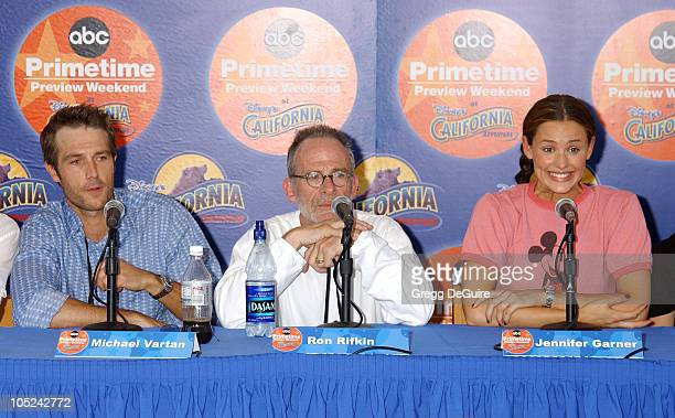 Michael Vartan Ron Rifkin Jennifer Garner during ABC Primetime Preview Weekend at Disney's California Adventure in Anaheim California United States