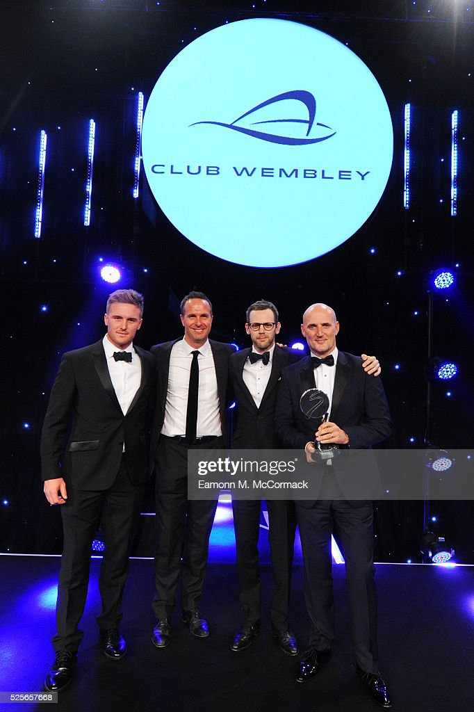 Michael Vaughan and Jason Roy present Agency of the Year in association with Club Wembley to MC Saatchi Sport Entertainment at the BT Sport Industry...