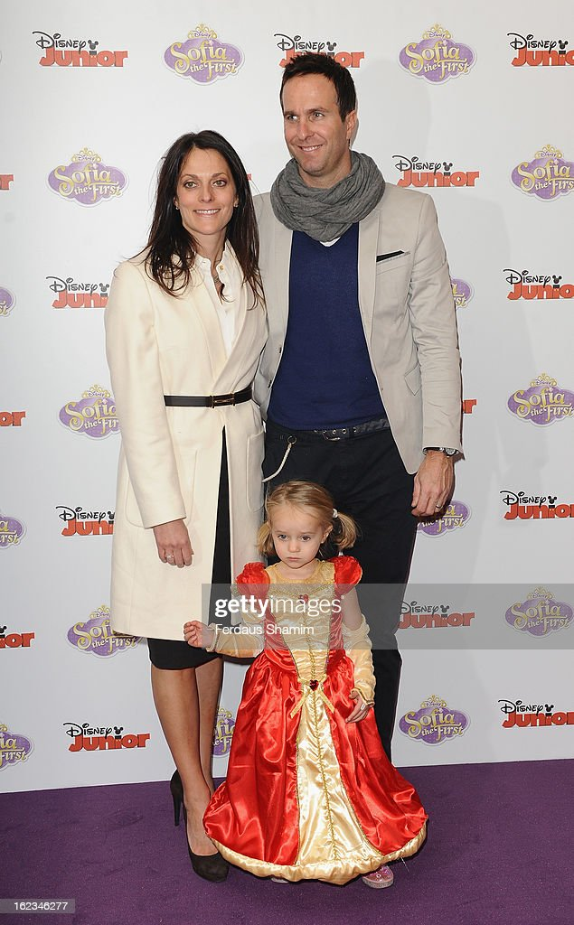 <a gi-track='captionPersonalityLinkClicked' href=/galleries/search?phrase=Michael+Vaughan&family=editorial&specificpeople=179446 ng-click='$event.stopPropagation()'>Michael Vaughan</a> attends the launch screening of Sofia the First at May Fair Hotel on February 22, 2013 in London, England.