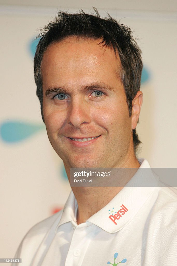 Michael Vaughan during Persil Skills Ball Live With Michael Vaughan August 23 2006 at The Old Truman Brewery in London Great Britain