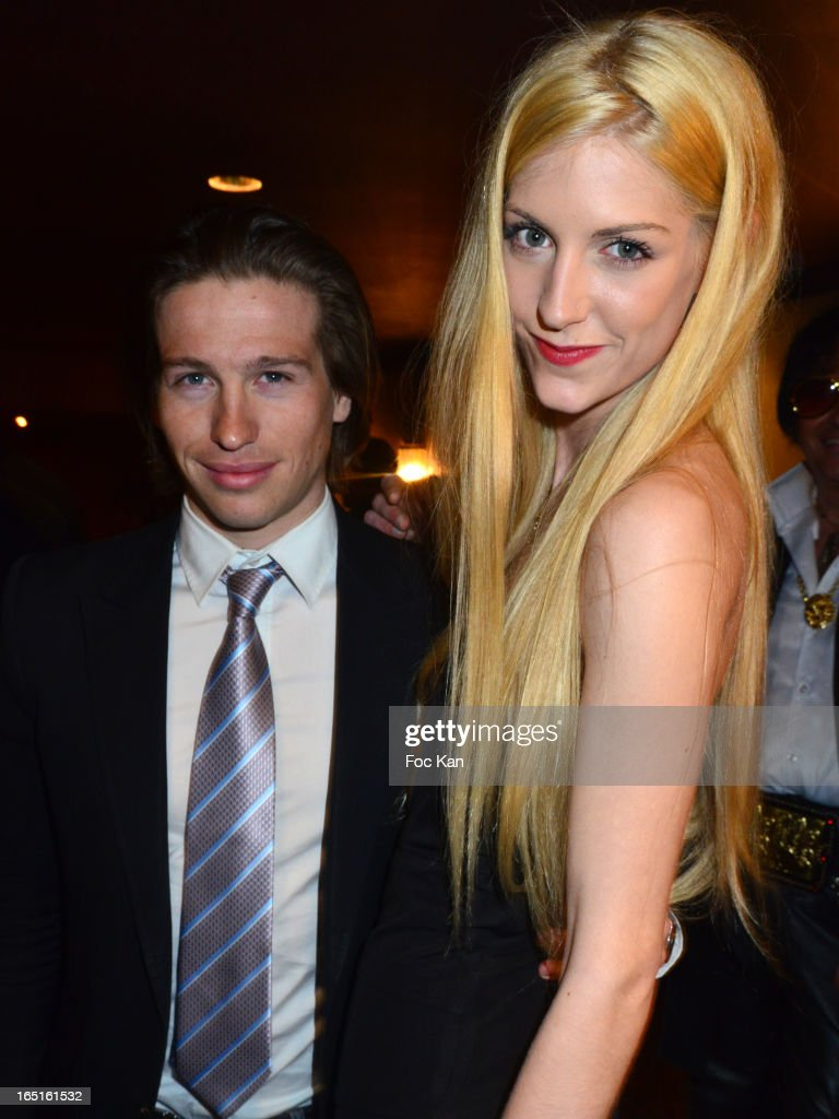 Michael Vendetta and model Leila attend the 'OmarJeans' Launch Party At The Pavillon Champs Elysees on March 31, 2013 in Paris, France.