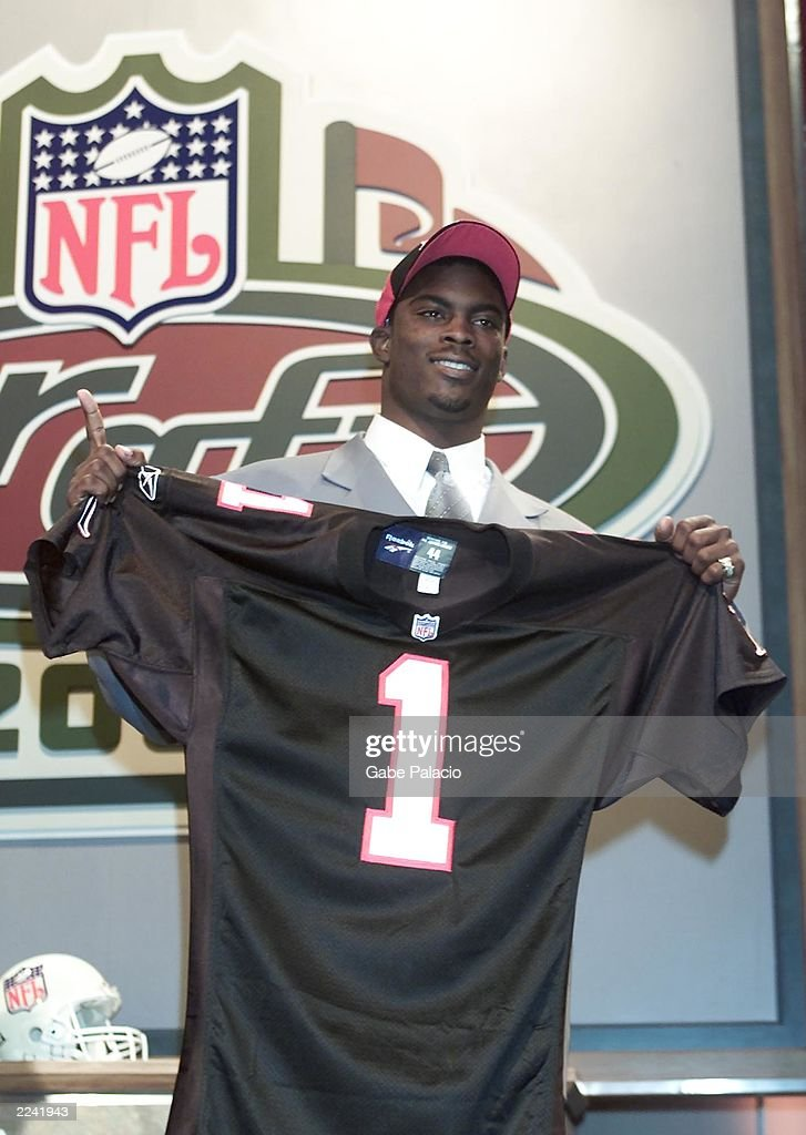 Michael Vick was the top pick by the Atlanta Falcons and the pick overall in the NFL Draft 2001 at Madison Square Garden in New York City on Saturday...