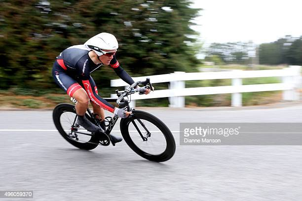 Michael Vink of Christchurch competes in the time trial round Winton during stage 6 of the Tour of Southland on November 7 2015 in Invercargill New...