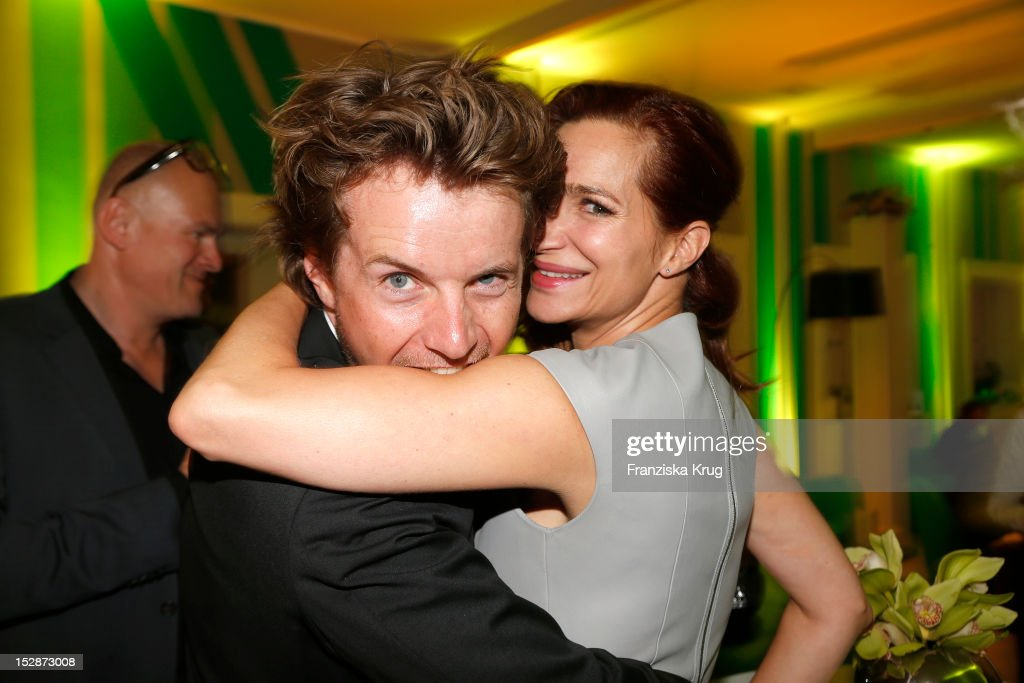 Michael von Hassel and Alexandra Kamp attend the Bertelsmann Summer Reception on September 27 2012 in Berlin Germany