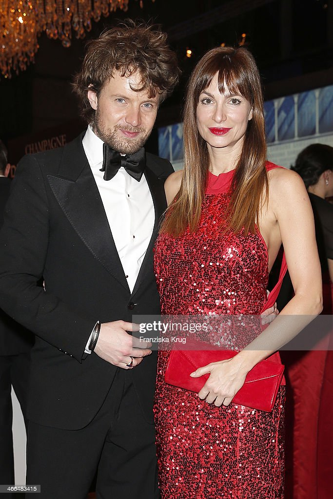 Michael von Hassel and Alexandra Kamp attend the Goldene Kamera 2014 at Tempelhof Airport on February 01 2014 in Berlin Germany