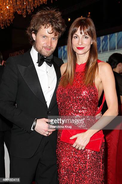 Michael von Hassel and Alexandra Kamp attend the Goldene Kamera 2014 at Tempelhof Airport on February 01 2014 in Berlin Germany