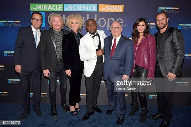 Michael W Smith Philip Sweet Kimberly Schlapman Davido Joel A Katz Karen Fairchild and Jimi Westbrook attend City Of Hope's 2016 Spirit Of Life Gala...