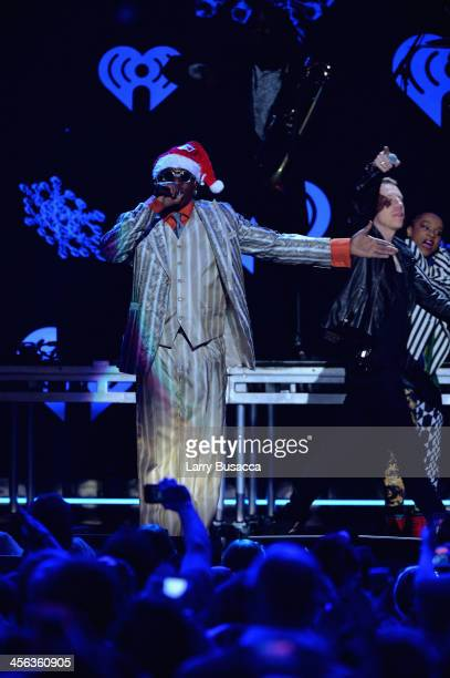 Michael Wansley performs onstage with Macklemore and Ryan Lewis during Z100's Jingle Ball 2013 presented by Aeropostale at Madison Square Garden on...