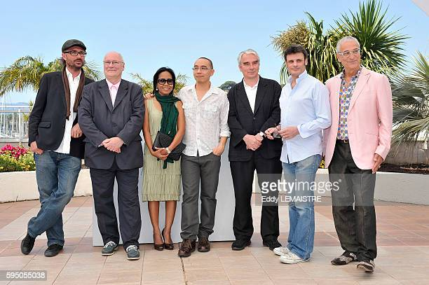 Michael Weber Apichatppong Weerasethakul Wallapa Mongkolprasert Simon Field Keith Griffith Charles de Meaux and Luis Minarro at the photo call for...