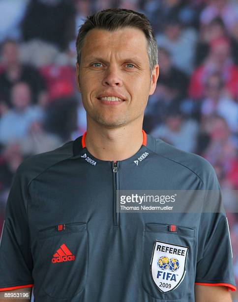 Michael Weiner poses during the German Football Association referee meeting on July 9 2009 in Altensteig Germany
