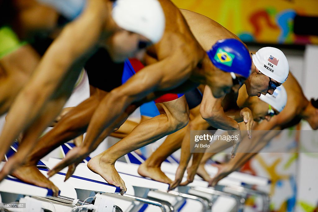 <a gi-track='captionPersonalityLinkClicked' href=/galleries/search?phrase=Michael+Weiss+-+Swimmer&family=editorial&specificpeople=14835132 ng-click='$event.stopPropagation()'>Michael Weiss</a> of the USA swims the mens 200m freestyle heat at the Pan Am Games on July 15, 2015 in Toronto, Canada.
