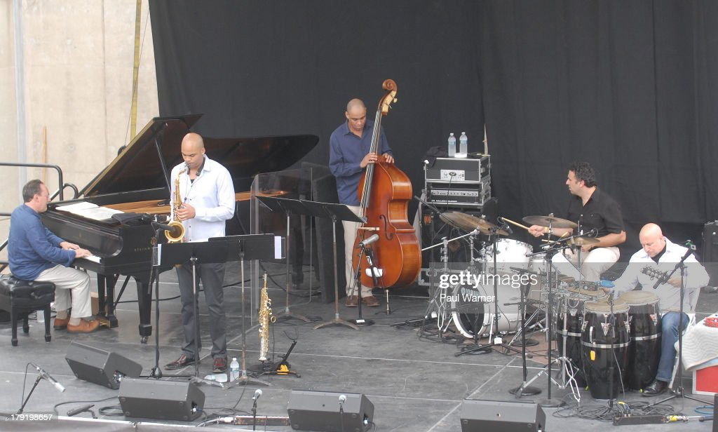 Michael Weiss performs with his Quintet during day 2 of the Detroit Jazz Festival on August 31, 2013 in Detroit, Michigan.