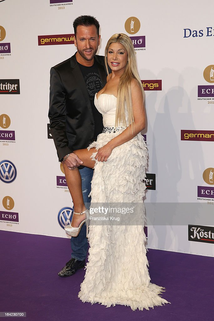 <a gi-track='captionPersonalityLinkClicked' href=/galleries/search?phrase=Michael+Wendler&family=editorial&specificpeople=4588515 ng-click='$event.stopPropagation()'>Michael Wendler</a> and guest attend the Echo Award 2013 at Palais am Funkturm on March 21, 2013 in Berlin, Germany.
