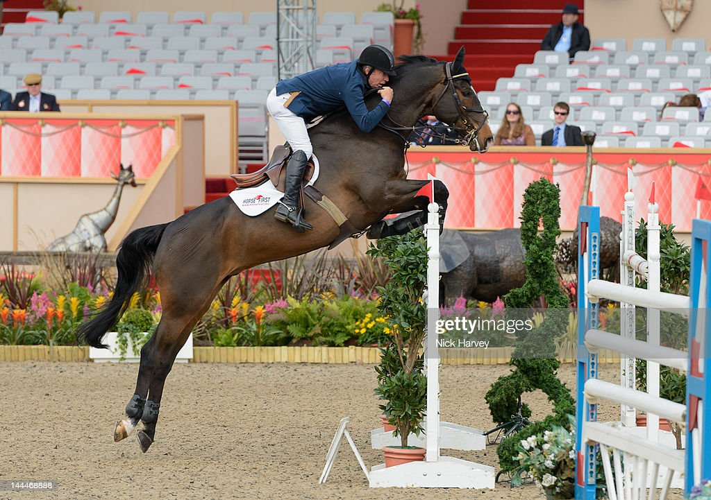 Michael Whitaker Competes During The Royal Windsor Horse Show At Home Park On May 13