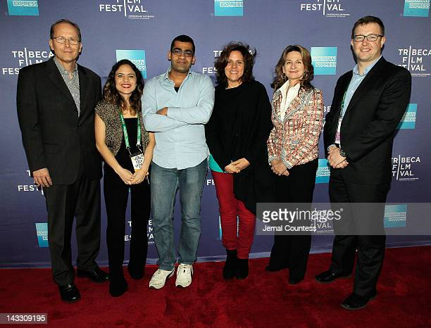 Michael White Tania Zarak Namir Abdel Messeh Lydia Dean Pilcher Cindy Kirven and Milan Popelka attend Tribeca Talks Industry The Business Of...