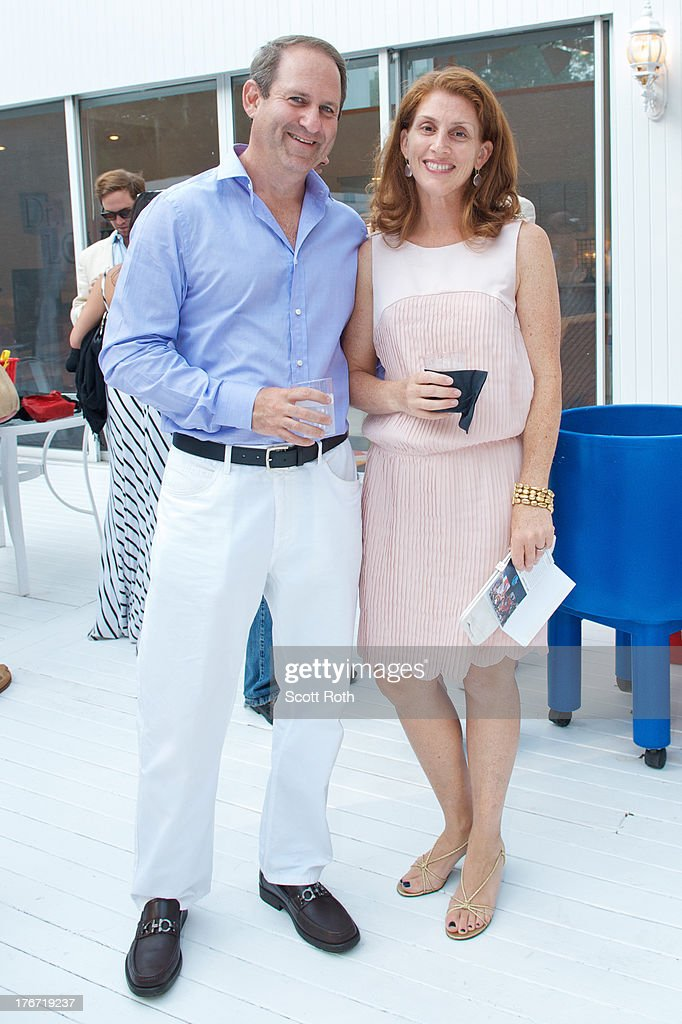 Michael Whitman and Nina Whitman attend Celebrity Matchmaker, Samantha Daniels Hosts Cocktails For NYC Mayoral Candidate, Jack Hidary on August 17, 2013 in Wainscott, New York.