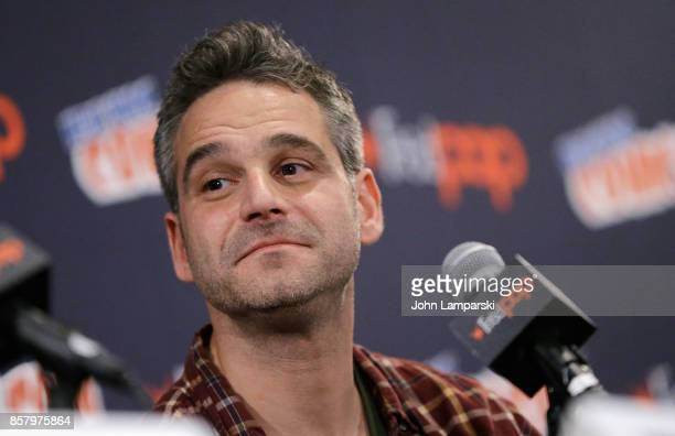 Michael William speaks during the Explosion Jones panel during the 2017 New York Comic Con Day 1 on October 5 2017 in New York City