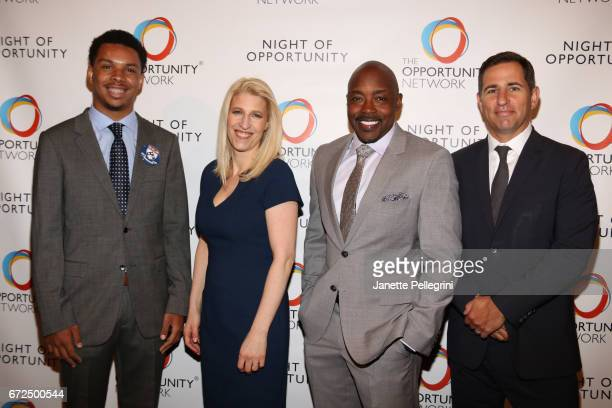 Michael Williams Jessica Pliska Will Packer and Brian Weinstein attend The Opportunity Network's 10th Annual Night of Opportunity Gala at Cipriani...
