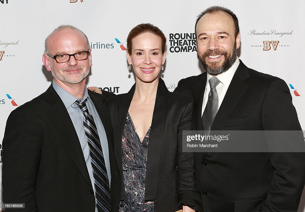 Michael Wilson, <a gi-track='captionPersonalityLinkClicked' href=/galleries/search?phrase=Sarah+Paulson&family=editorial&specificpeople=220657 ng-click='$event.stopPropagation()'>Sarah Paulson</a> and Danny Burstein attend 'Talley's Folly' Opening Night at Laura Pels Theatre at the Harold & Miriam Steinberg Center for on March 5, 2013 in New York City.