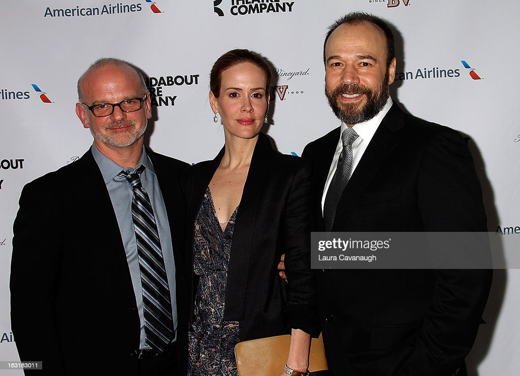 Michael Wilson, <a gi-track='captionPersonalityLinkClicked' href=/galleries/search?phrase=Sarah+Paulson&family=editorial&specificpeople=220657 ng-click='$event.stopPropagation()'>Sarah Paulson</a> and Danny Burstein attends 'Talley's Folly' Opening Night at Laura Pels Theatre at the Harold & Miriam Steinberg Center for on March 5, 2013 in New York City.