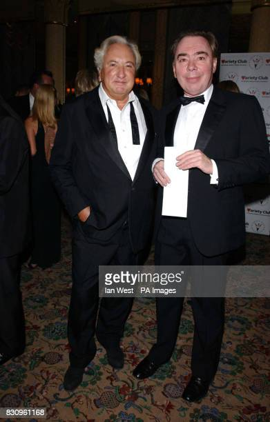 Michael Winner and Lord Webber during a reception prior to the Variety Club's Tribute Dinner for lyricist Don Black at The Dorchester * Don Black is...