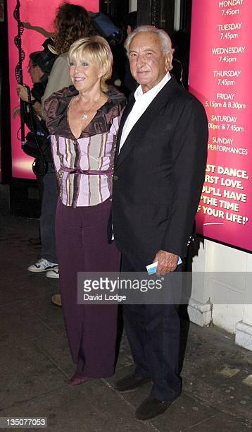 Michael Winner during 'Dirty Dancing' The Classic Story on Stage Arrivals at Aldwych Theatre in London Great Britain