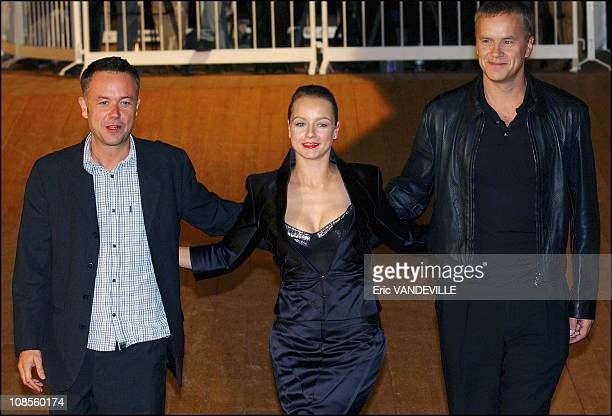 Michael Winterbottom Samantha Morton and Tim Robbins in Venice Italy on September 2nd 2003
