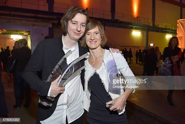 Michael Wollny and Eva Kruse attend the Echo Jazz 2015 at the dockyard of BlohmVoss on May 28 2015 in Hamburg Germany