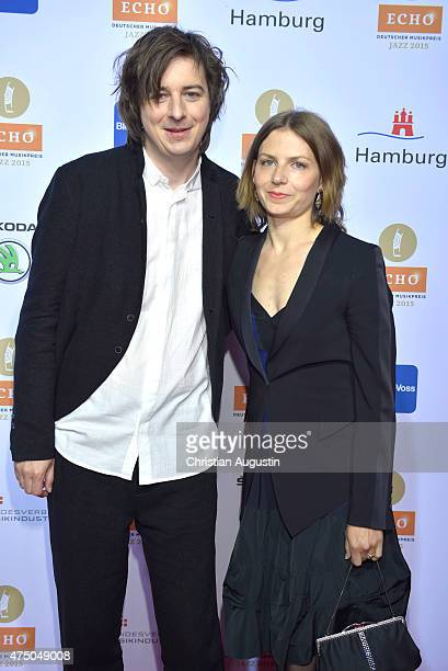 Michael Wollny and his wife Cline Braeunig attend the Echo Jazz 2015 at the dockyard of BlohmVoss on May 28 2015 in Hamburg Germany