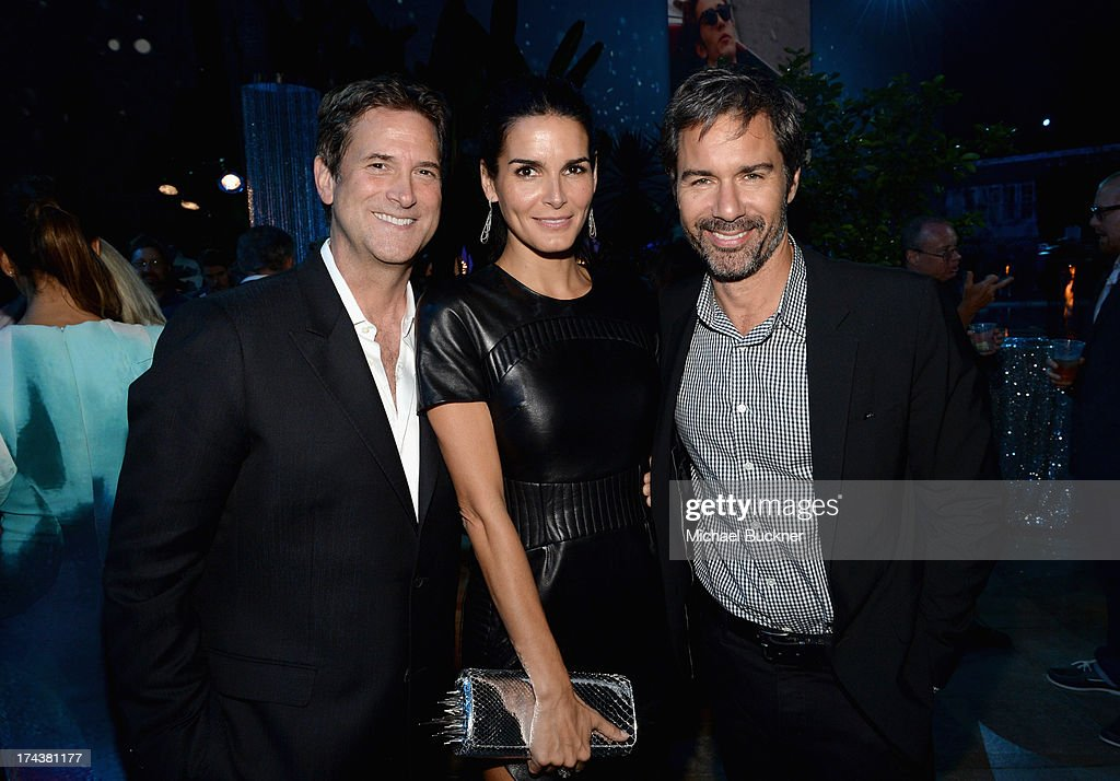 Michael Wright, President, Head of Programming TNT, TBS & TCM, actors Angie Harmon and Eric McCormack attend TNT 25TH Anniversary Party during Turner Broadcasting's 2013 TCA Summer Tour at The Beverly Hilton Hotel on July 24, 2013 in Beverly Hills, California.