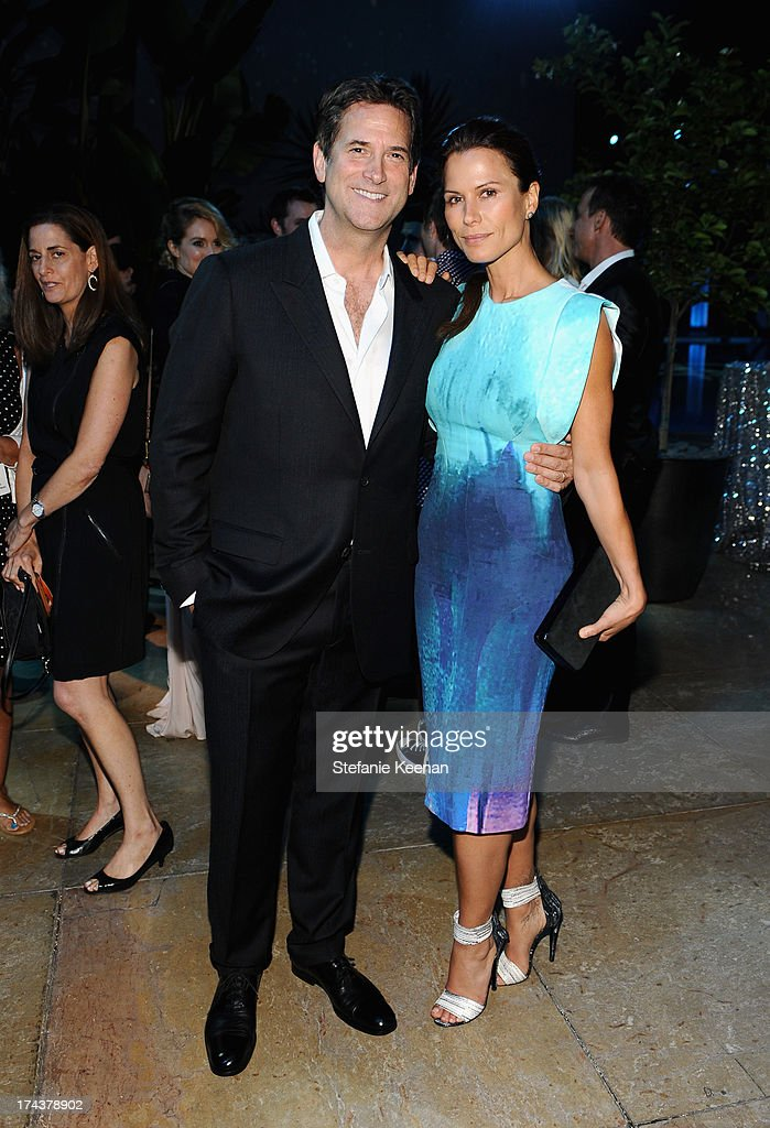 Michael Wright, President, Head of Programming TNT, TBS & TCM and actress Rhona Mitra attend TNT 25TH Anniversary Party during Turner Broadcasting's 2013 TCA Summer Tour at The Beverly Hilton Hotel on July 24, 2013 in Beverly Hills, California.
