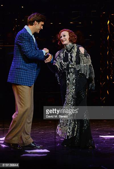 Michael Xavier and Glenn Close bow at the curtain call during the press night performance of 'Sunset Boulevard' at The London Coliseum on April 4...