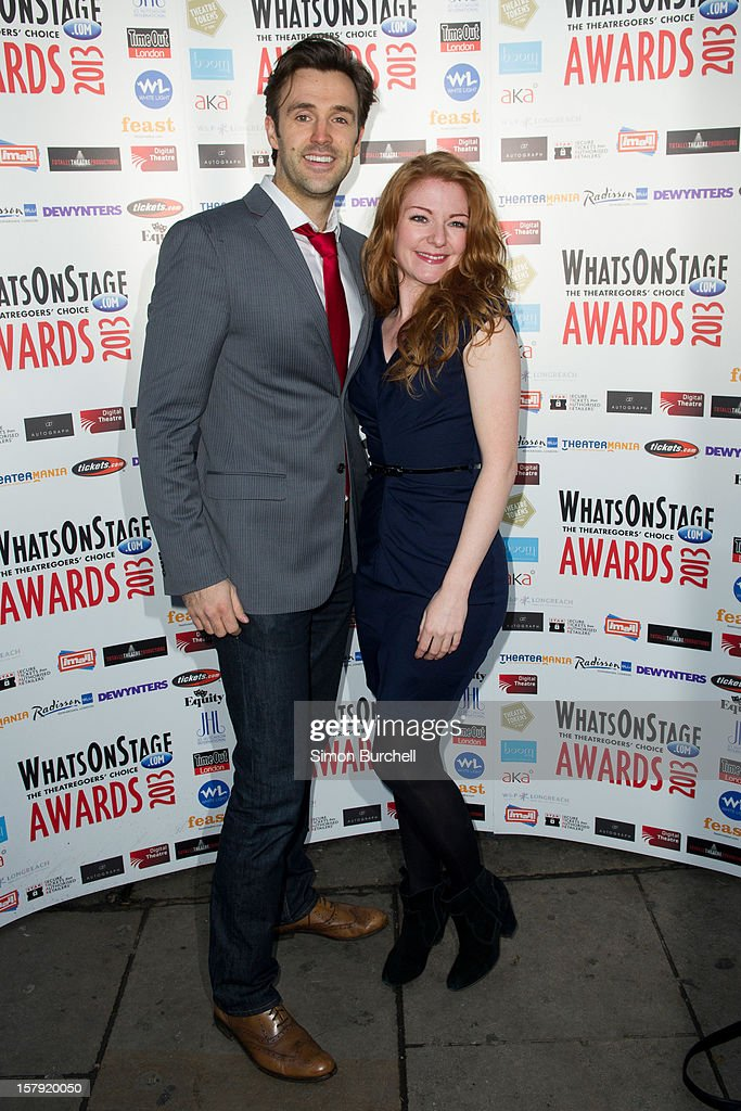 Michael Xavier and Laura Pitt-Pulford attends the Whatsonstage.com Theare Awards nominations launch at Cafe de Paris on December 7, 2012 in London, England.