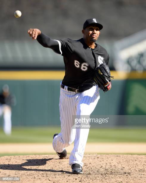 Michael Ynoa of the Chicago White Sox pitches against the Detroit Tigers on April 6 2017 at Guaranteed Rate Field in Chicago Illinois The White Sox...