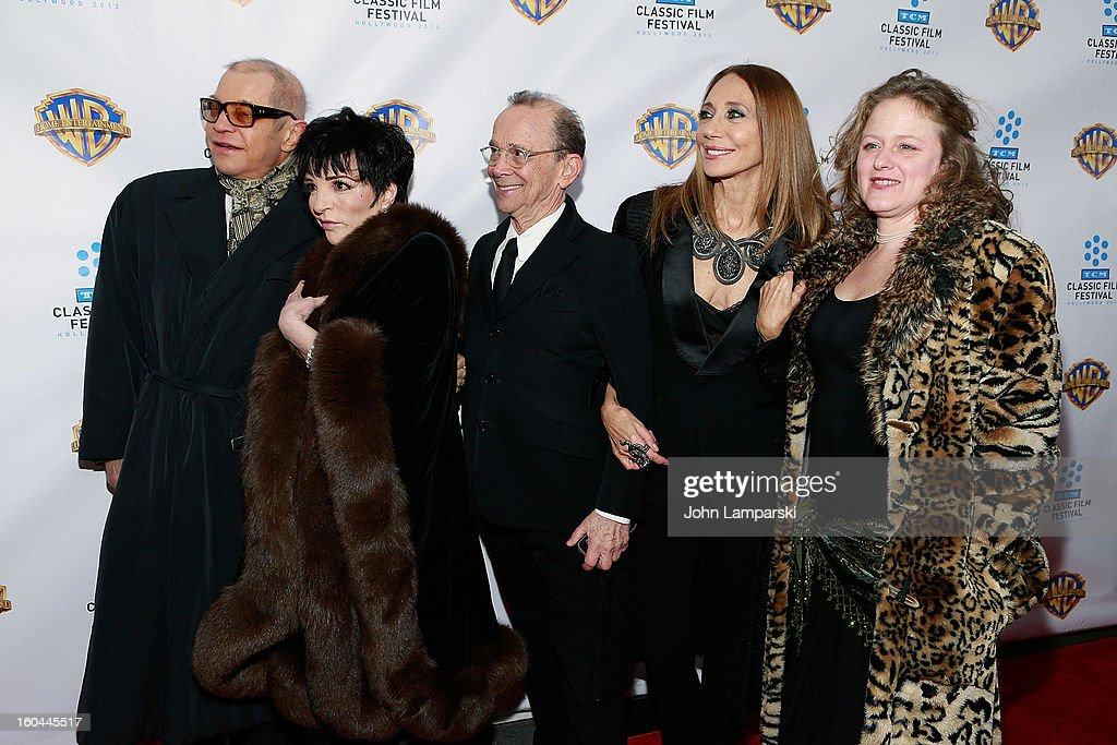 <a gi-track='captionPersonalityLinkClicked' href=/galleries/search?phrase=Michael+York&family=editorial&specificpeople=209058 ng-click='$event.stopPropagation()'>Michael York</a>, Liza Minelli, <a gi-track='captionPersonalityLinkClicked' href=/galleries/search?phrase=Joel+Grey&family=editorial&specificpeople=215297 ng-click='$event.stopPropagation()'>Joel Grey</a>, <a gi-track='captionPersonalityLinkClicked' href=/galleries/search?phrase=Marisa+Berenson&family=editorial&specificpeople=206844 ng-click='$event.stopPropagation()'>Marisa Berenson</a> and Nicole Fosse attend 'Cabaret' 40th Anniversary New York Screening at Ziegfeld Theatre on January 31, 2013 in New York City.