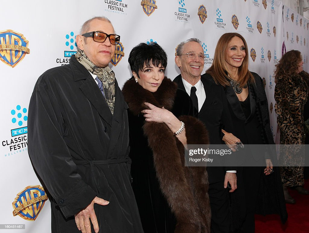Michael York, <a gi-track='captionPersonalityLinkClicked' href=/galleries/search?phrase=Liza+Minnelli&family=editorial&specificpeople=121547 ng-click='$event.stopPropagation()'>Liza Minnelli</a>, <a gi-track='captionPersonalityLinkClicked' href=/galleries/search?phrase=Joel+Grey&family=editorial&specificpeople=215297 ng-click='$event.stopPropagation()'>Joel Grey</a> and <a gi-track='captionPersonalityLinkClicked' href=/galleries/search?phrase=Marisa+Berenson&family=editorial&specificpeople=206844 ng-click='$event.stopPropagation()'>Marisa Berenson</a> attend the 'Cabaret' 40th Anniversary New York Screening at Ziegfeld Theatre on January 31, 2013 in New York City.