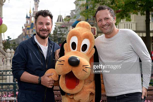 Michael Youn and Arthur attend the new show of Disneyland Paris 'Mickey et le Magicien' at Disneyland Paris on July 2 2016 in Paris France
