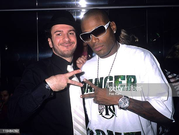 Michael Youn and Lord Kossity during Djibril Cisse's ''Music and Me'' CD Launch Party December 10 2006 at VIP Room in Paris France