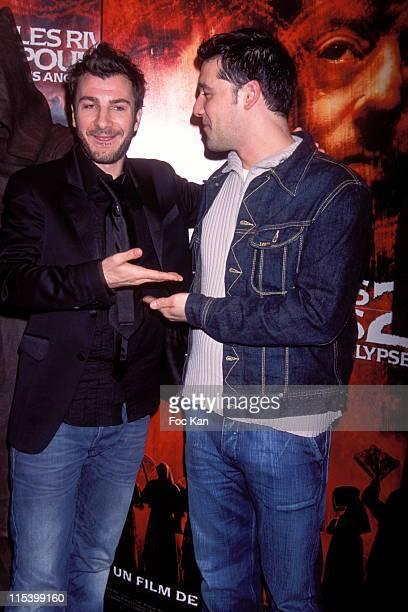Michael Youn and Titoff during 'Purple Rivers 2' Paris Premiere at Gaumont Marignan in Paris France