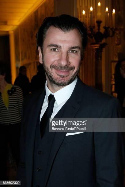 Michael Youn attends MarieAgnes Gillot is decorated 'Chevalier de lordre national de la Legion d'Honneur' at Ministere de la Culture In Paris on...