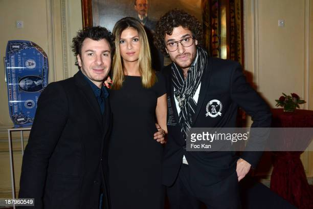 Michael Youn Isabelle Funaro and Karl Lagasse attend the Karl Lagasse At Mad Art Cocktail In Benefit of AMFE Children Care Association on November 13...