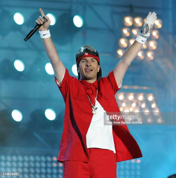 Michael Youn of 'Fatal Bazooka' during 'Fete de la Musique' Live on 'France 2' NRJ at Hippodrome D'Auteuil in Paris France