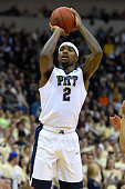 Michael Young of the Pittsburgh Panthers shoots the ball against the Syracuse Orange during the first half at the Petersen Events Center on December...
