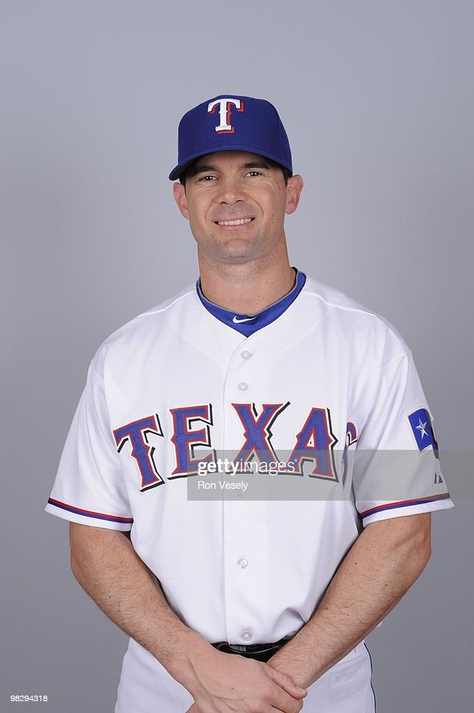 <a gi-track='captionPersonalityLinkClicked' href=/galleries/search?phrase=Michael+Young+-+Baseball+Player&family=editorial&specificpeople=203149 ng-click='$event.stopPropagation()'>Michael Young</a> of the Texas Rangers poses during Photo Day on Tuesday, March 2, 2010 at Surprise Stadium in Surprise, Arizona.