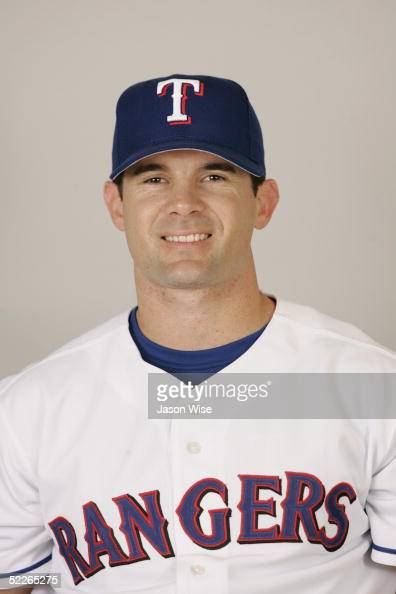 Michael Young of the Texas Rangers poses for a portrait during photo day at Surprise Stadium on February 23 2005 in Surprise Arizona