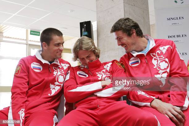 Michael YOUZHNY / ANDREEV / Marat SAFIN Tirage au sort Russie / France Coupe Davis