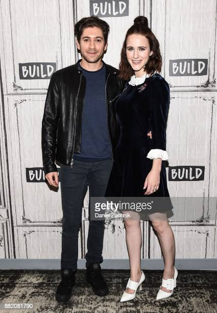 Michael Zegen and Rachel Brosnahan attend the Build Series to discuss the new film 'The Marvelous Mrs Maisel' at Build Studio on November 29 2017 in...