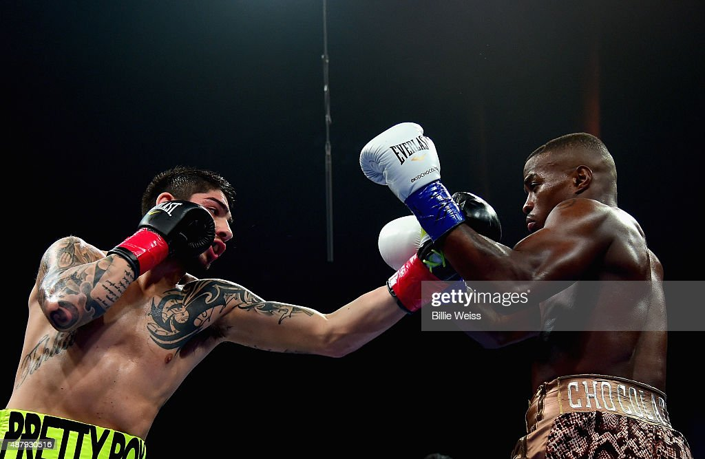 Michael Zerafa punches Peter Quillin during a fight at Foxwoods Resort Casino on September 12, 2015 in Mashantucket, Connecticut.